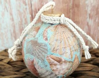 Beach Ornament, Nautical Ornament, Seashell Ornament, Beach Christmas Ornament, Christmas Ornament, Seashell Ornament, Nautical Ornament