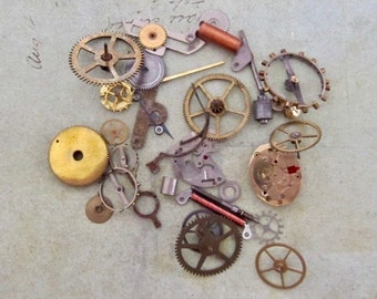 Watch parts for your jewelry or creative designs  Steampunk supplies  gears Cogs K26