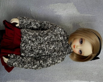 MSD  mini BJD sweater Snowline
