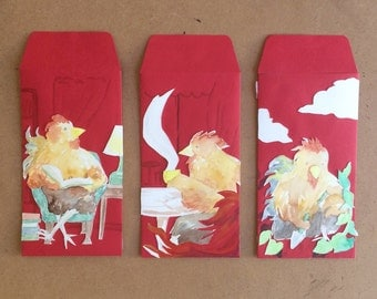Year of the Rooster - Set of 3 - Red Envelope Show