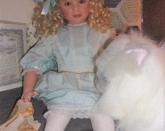 "Gadco Doll 28"" Felicity and Cat Popcorn by ROTRAUT SCHROTT"