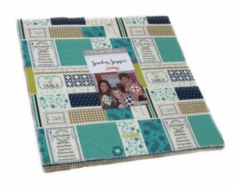 SPRING SALE - Sunday Supper - Layer Cake - Sweetwater - Moda Fabric