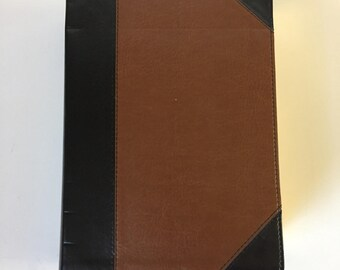 Brown and Black Accented Blank Leather Journal