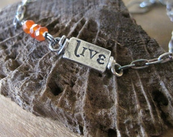 simple truths - live - sterling silver and carnelian