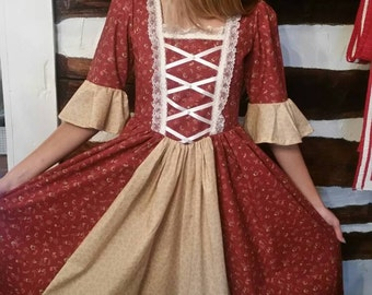 Girl Colonial Dress Ready TO SHIP SIZE 14