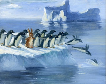 ISABELLA and the Penguins   Fine art Print