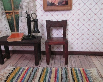 """Vintage Doll Furniture - Tynietoy Dollhouse Telephone  Chair - 1"""" Scale"""