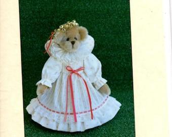 Stuffed Bear Pattern - Noel - Roosevelt Bear Co. - 13 Inch Angel Bear - Christmas Bear - Bear Doll Making Pattern