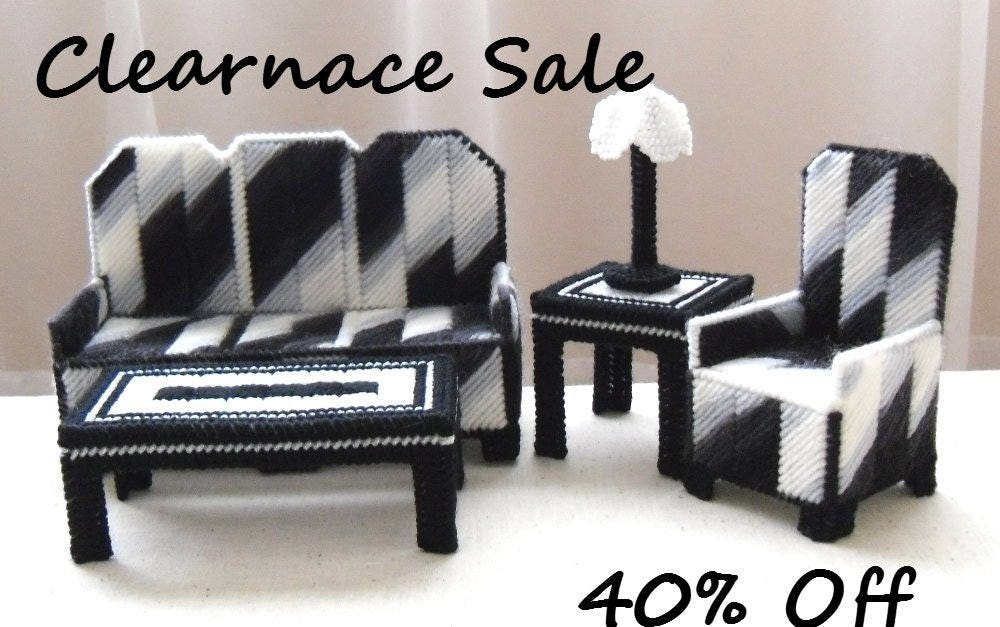 Zebra living room set