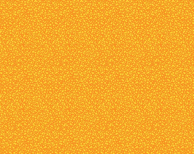 Dotties Orange Fabric by Ellen Medlock - 1 Yard Orange Yellow Dot Tone on Tone Blender Quilting Sewing Cotton Fabric (#927O)