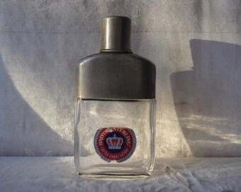 Vintage British Sterling Aftershave Bottle/Faux Antique Hip Flask