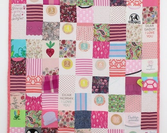 Custom Baby Clothes Quilt- 16, 64, 108 - Block - Memory Blanket - Memory Quilt - Baby Blanket