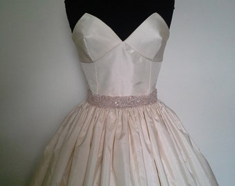 Blush Pink beaded Lace Sash