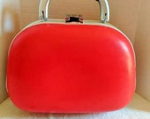 Valentine Sale Red Beauty Travel Train Case Luggage, With Lock and Keys