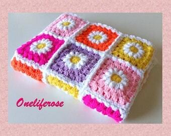 Crochet Baby Blanket, Handmade Baby Blanket, Baby Boy Blanket,Baby Girl Blanket Grany Square