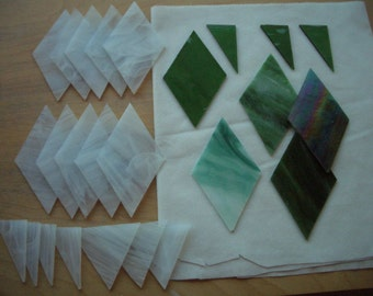 DIAMONDS SET - 25 pcs Stained Glass - Scrap Glass for Mosaic Projects
