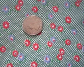 Vintage 1930s/40s Full Cotton Feedsack Feed Sack-Tiny Red Green Blue Floral No.3