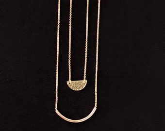 Hammered Secant Necklace