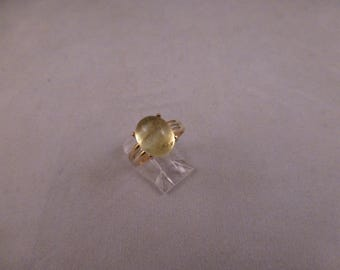 Libyan Desert Glass Silver Ring. Cabochon. Out of the world