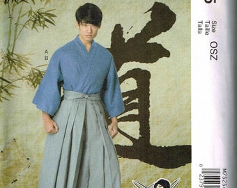 Adult Men Misses Kimono  Halloween Costume McCalls 2743 Sewing Pattern All Sizes  S M L XL XXL
