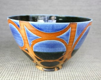 Blue and Black Circle Tim Bowl