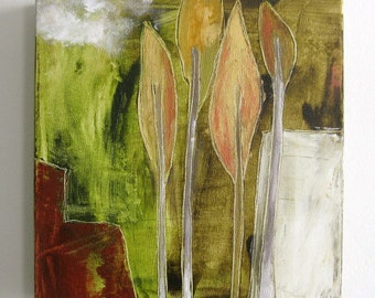 urban forest, original painting on canvas