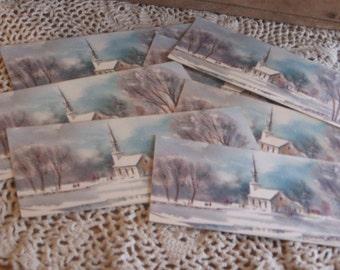 Reserved for Rachael 3 Christmas Ephemera Lot Cards Tin Postcards