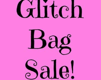 SALE: Glitch Bags! 6 Sheets for 6 Dollars! Stickers on Sale! Great for your Erin Condren Life Planner!