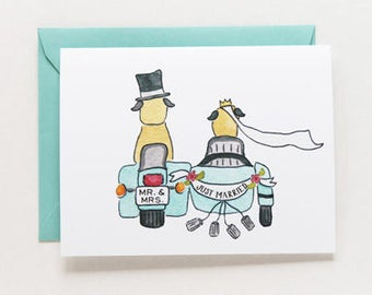 Wedding - Mr. and Mrs. Card - Just Married Congratulations
