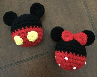 Mickey & Minnie Mouse Set of 2 Ornaments