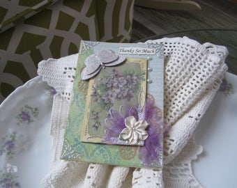 Handmade Thank You Card - Victorian Thank You Card