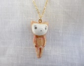 Petit Cat Pendant-brick