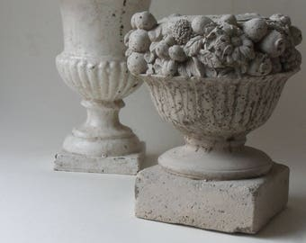 cement fruit flower urn