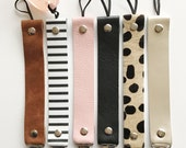 30% off SALE on Platinum, Pink and Cheetah- Personalized Leather Pacifier Clips