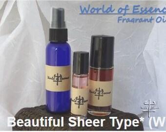 100% Pure Perfume Fragrance Body Oil- Beautiful Sheer Type* (W)