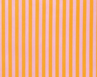 NEW Tabby Road by Tula Pink for Free Spirit  Tent Stripe in Marmalade Pick your cut  YES!! Continuous fabric cuts and combined shipping