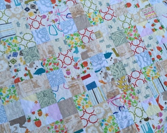 White and Neutral Scrap Quilt