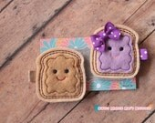 Girls Hair Clip--Peanut Butter and Jelly Felties