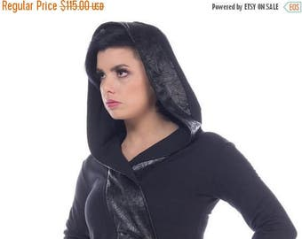 on sale Active_B anime inspired hoodie, wrap top,  with oversized hood by Plastik Wrap