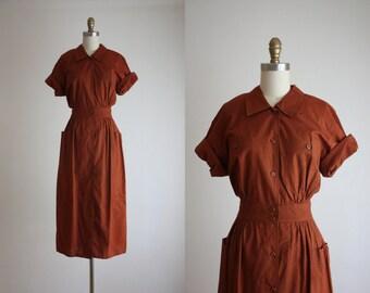 terra cotta midi dress