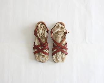 vintage bass sandals / size 8
