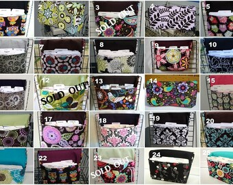 Medium Size Coupon Organizer /Budget Organizer Holder- Attaches to Your Shopping Cart -- Choose Your Fabric -- GROUP TWO