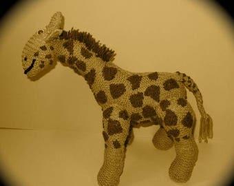 50% OFF SALE Instant Digital pdf file Knitting Pattern - Geoffrey Giraffe toy animal pdf knitting pattern