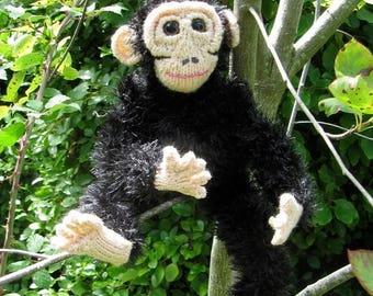 50% OFF SALE Instant Digital File pdf download knitting pattern -My Pet Chimpanzee toy animal  pdf download knitting pattern