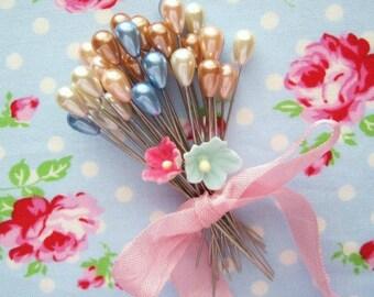 Corsage Pins - Teardrop Pastel - Set of 20