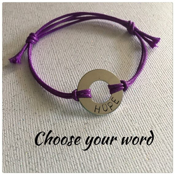 Choose your word Washer bracelet Custom bracelet