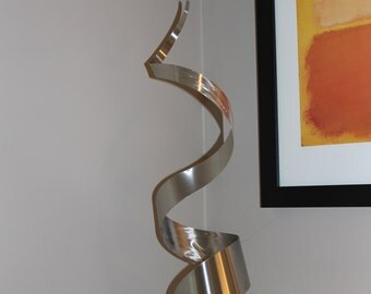 Modern Abstract Stainless Steel Metal Sculpture Garden Sculpture In/Outdoor by Andre' *Free Shipping*
