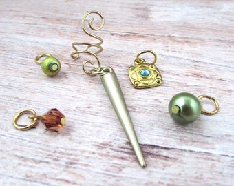 Dangle for Ear Cuff - Ear Cuff Charms - Ear Cuff Dangle - Drops for Ear Cuff - Ear Cuff Dangle Set - Gold Ear Cuff Charm - Boho Ear Cuff Set