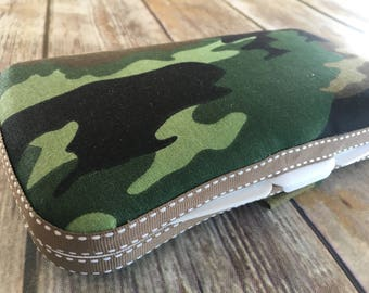 Designer Travel Wipes Case | With or Without Diaper Strap | Wipes to Go | Camouflage | Stylish
