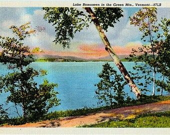 Vintage Vermont Postcard - Lake Bomoseen in the Green Mountains (Unused)